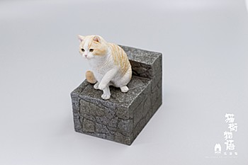 Sank Toys Cat's Town Story Vol. 4 The Paw-giving Cat-Cream Tabby and White