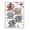 "Premium Postcard Holder ""Ikemen Prince The Last Love of Beauty and the Beast"" 01 Flower Ver. Pattern Design (Graff Art Design)"