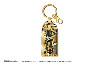 """""""Slow Damage"""" Stained Glass Style Key Chain Madarame"""