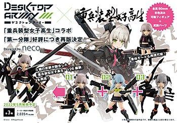 """Desktop Army """"Heavily Armed High School Girls"""" First Squad"""