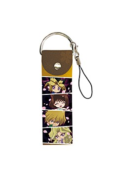 "Big Leather Strap ""Yu-Gi-Oh! Duel Monsters"" 02 Omote Yugi & Jounouchi Katsuya & Mazaki Anzu & Kujaku Mai (Mini Character)"