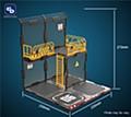 FRESH RETRO 1/24 SCALE DIORAMA BUILDING SET SIB06 IRON NET BASE-B